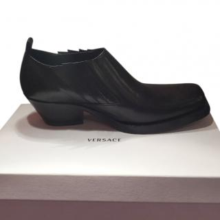 Versace Men's Black Leather Shoes