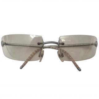 Chanel silver clear UV sunglasses VGC