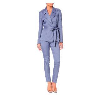 PA5H Blue Silk Two Piece Suit
