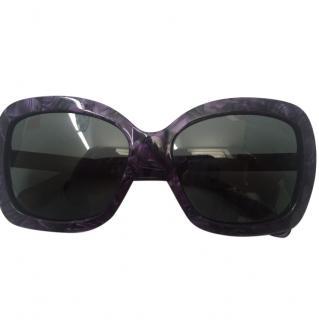 D&G Dolce Gabbana purple sunglasses