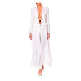PA5H White Jacket with Pleated Skirt