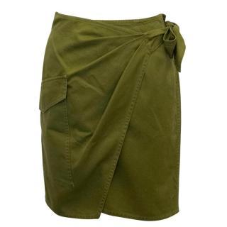 Isabel Marant Etoile  Obtain Cotton-Gabardine Military Skirt