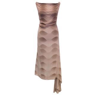 Chloe Dusky Pink Printed Silk Dress