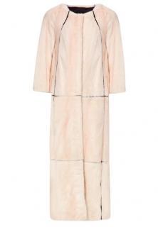 PA5H Cream Mink Fur Coat