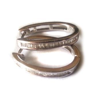 .25 Carat Bagguet Diamond Earrings