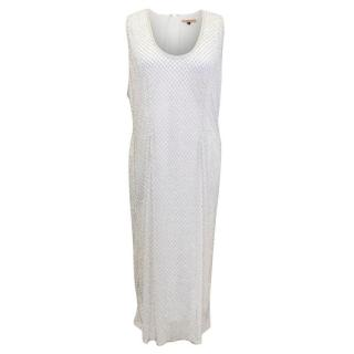 PA5H White Crystal Embellished Dress