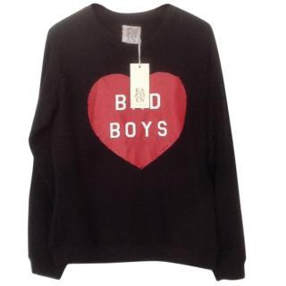 Zoe Karssen Black 'Bad Boys'  Terry Sweatshirt