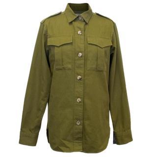 Isabel Marant Etoile Obtain Cotton-Gabardine Military Shirt
