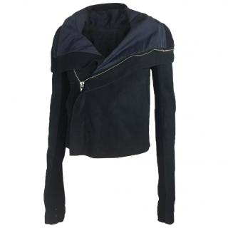 Rick Owens Navy blue Leather Jacket
