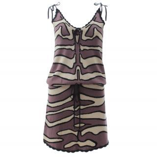 Temperley London Silk Knit Printed Dress