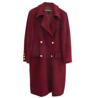 Escada Pure Wool Burgundy Coat