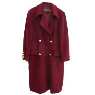 Escada Pure Wool Burgundy Coat