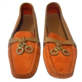 Louis Vuitton Orange Loafers