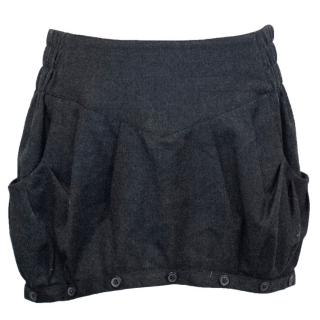 Balmain Dark Grey Mini Skirt