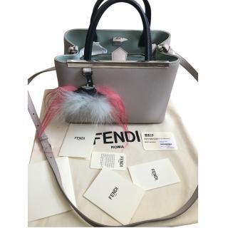 Fendi 2jours Bicolour Handbag with Monster Charm