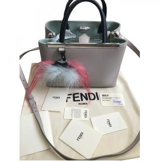 Fendi 2jours Bicolour Handbag with Monster Charm