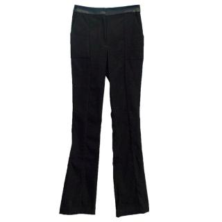 PA5H Black High Waisted Trousers