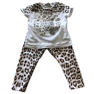 Roberto Cavalli Girls T Shirt and Leggings Set