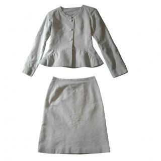 Paul & Joe Off White Cotton Blend Suit