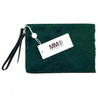 Maison Margiela Green Faux Fur iPad Case