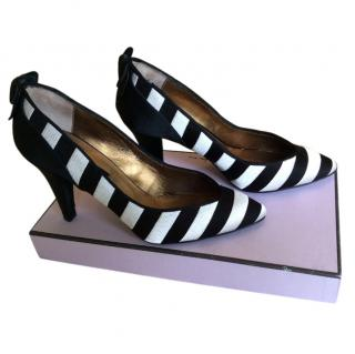 Lulu Guinness Striped Shoes