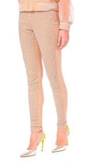 PA5H Nude Leggings with Diamante Embellishments