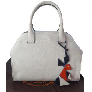 Tods White Leather Bag