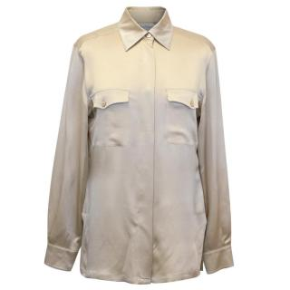 Max Mara Nude Silk Shirt