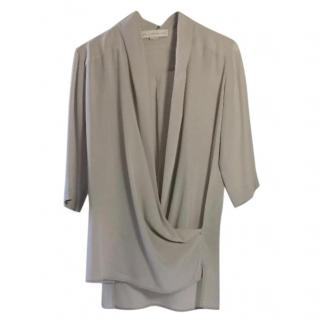 Stella McCartney Grey Silk Wrap Top