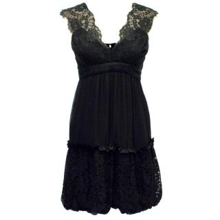 BCBG Max Azria Black Dress with Lace Details