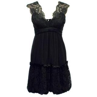 BCBG Max Azria Black Dress with Lace Details