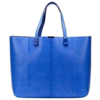 Victoria Beckham Python Blue shopper