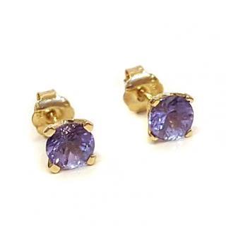 Illiana Tanzanite Stud Earrings 10ct Gold