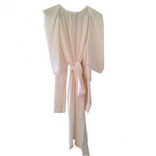Vionnet white silk dress