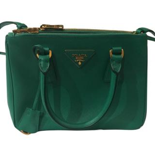 Prada Green Mini Saffiano leather tote