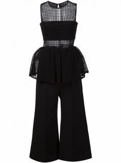 Self Portrait Structured Peplum Jumpsuit