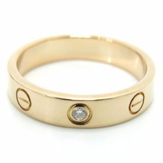 Cartier Mini Love Ring 1P Diamond Pink Gold 18k