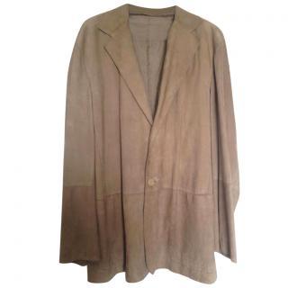 Jil Sander Suede Leather Beige Jacket