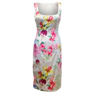 Dolce & Gabbana Floral Silk Pencil Dress