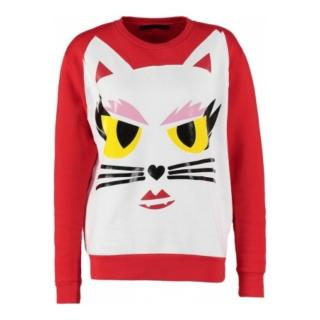 Karl Lagerfeld Red Cat Sweatshirt