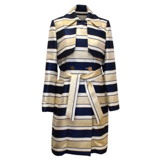 By Malene Birger Striped Double Breasted Coat