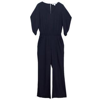 Diane von Furstenberg Navy Blue Boiler Suit