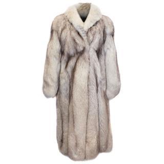 Adele Alllamoda Long Fox Fur Coat