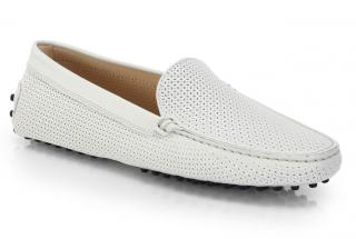 Tod's Perforated Leather Gommino Driving Shoes size 39.5