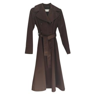Valentino Brown Long Trench Coat