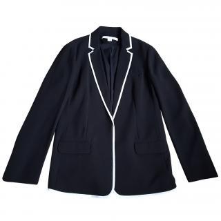 Diane Von Furstenburg Black Jacket with White Piping