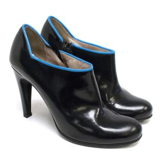 Marc by Marc Jacobs Black Patent Leather Ankle Boots