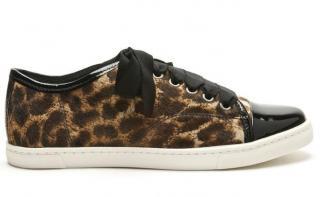 Lanvin Ladies Leopard Print Sneakers size 40
