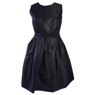 Carven Black Dress with a Flared Skirt