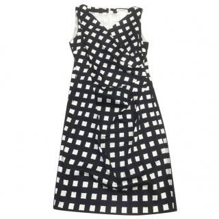 MaxMara Black and White Patterned Dress
